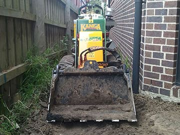 Kanga Digger being used for site levelling and earthmoving job