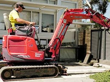 Hired Contractor Uses Hire Equipment For Job