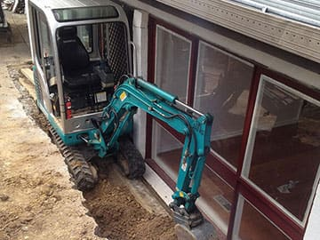 Excavation Performed With Mini Digger Rented From Dial A Digger