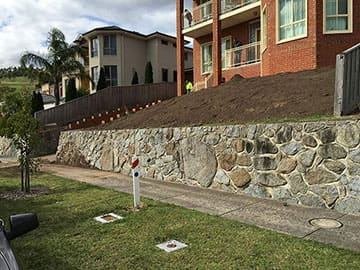 Leveling for Retaining Walls