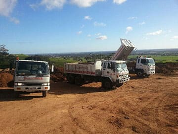 Range Of Tipper Trucks With Various Load Ratings For Hire